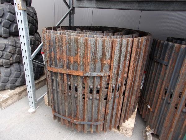 Stahlkette mit Bodenplatten, 49 Glieder - Baggerklasse 12-16t